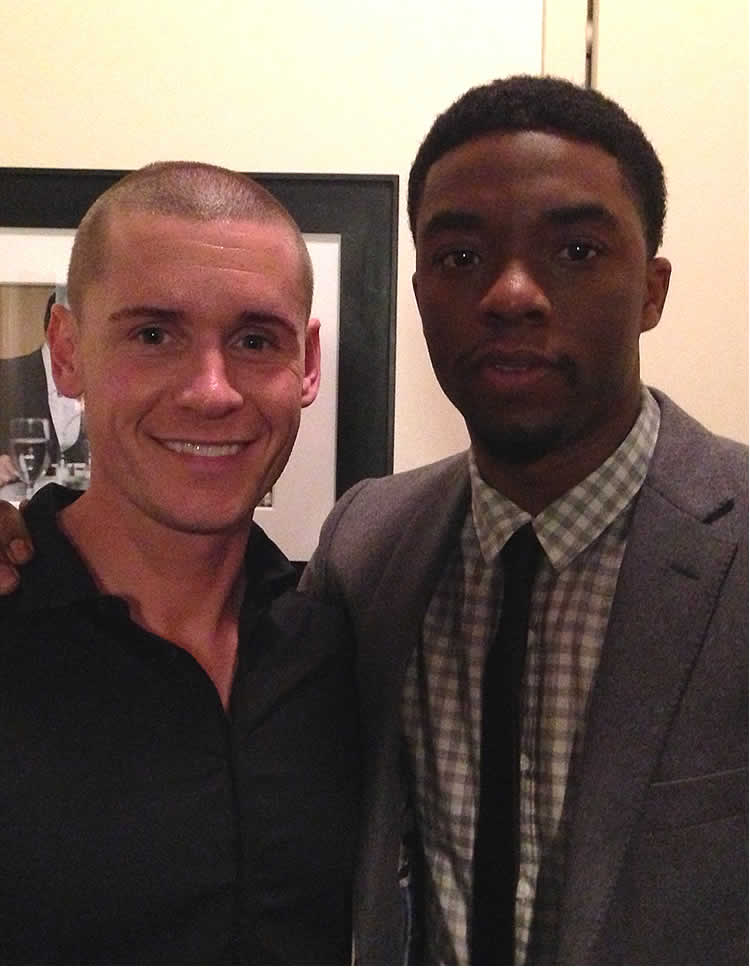 Linc Hand and Chad Boseman