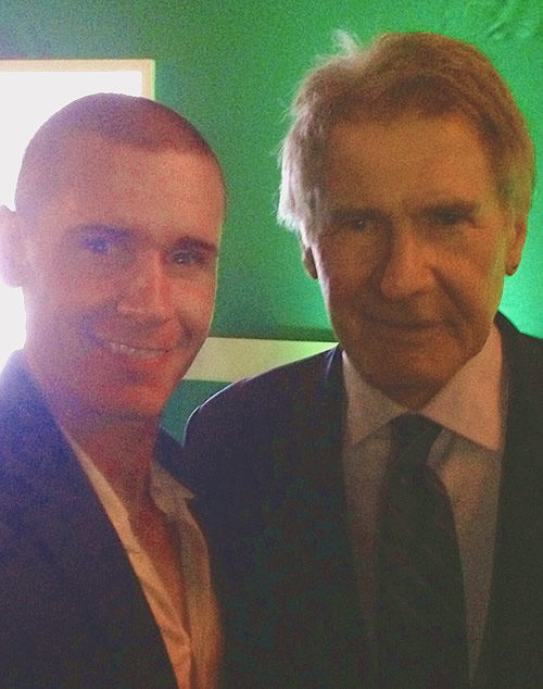 Linc Hand and Harrison Ford